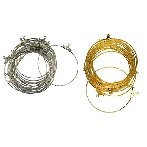 Beading Loop (MonkeyJack 40pcs Beading Hoop Loop Earring Ear Wire Jewelry Making Findings DIY Gold)