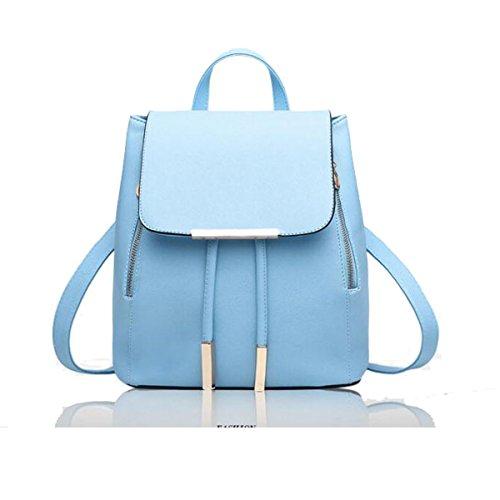 Fat Rabbit - Polyurethane Bag Backpack Blue Womens