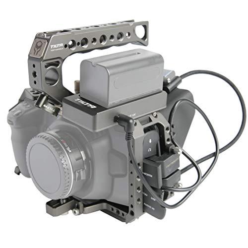 (Tilta Gray) TILTA TA-T01-B-PLUS BMPCC 4K / BMPCC 6K Cage Blackmagic Pocket Cinema Camera 4K / 6K Cage Rig + Half Sunhood + F970 Plate (Basic Plus Kit)