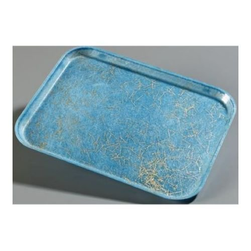 Carlisle Glasteel Display - Carlisle Glasteel Fiberglass Starfire Blue Decorative Display/Bakery Tray, 8 3/4 x 25 1/2 x 1 1/8 inch -- 1 each.