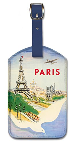 Pacifica Island Art Leatherette Luggage Baggage Tag - Paris France by Manset (Luggage France)