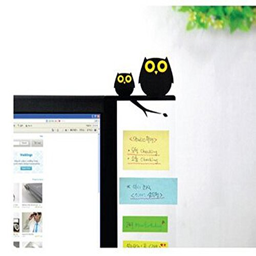 Witkey Computer Screen Display Creative Cute Transparent Message Boards Sticky Boards Post-it Note Board (Owl (Office Supplies)