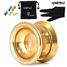 Original Magic YoYo T8 Shadow Aluminum Professional Yo-Yos Ball for Kids Boys Girls Toys Gift- Gold