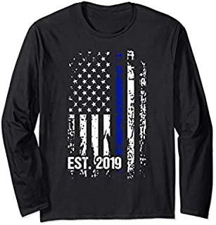 Police Graduation  Police Academy 2019 Exam Gift Long Sleeve T-shirt | Size S - 5XL