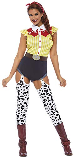 Leg Avenue Womens Giddy Up Cowgirl Costume, Multi -