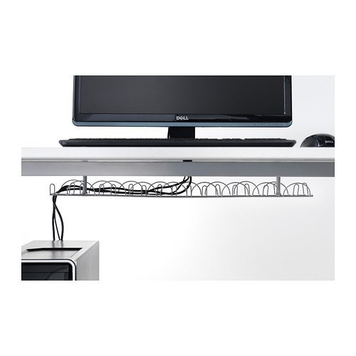 IKEA - SIGNUM Cable management, horizontal, silver color (FBA) by Signum