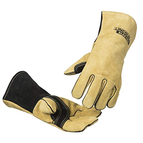 Lincoln Electric Heavy Duty MIG/Stick Welding Gloves | Heat Resistant & Durabilty | Large | K4082-L