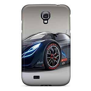 Protective Tpu Case With Fashion Design For Galaxy S4 (blue Cool Mazda)
