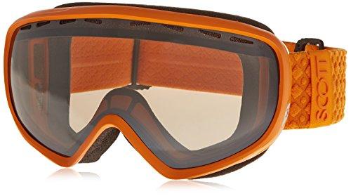 SCOTT US Dana Ski Goggles, Solid Orange, Black Chrome Natural (Orange Chrome Lens)