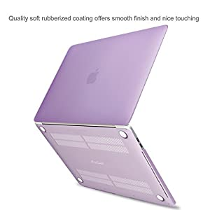 MacBook Pro 13 Case 2016 A1706/A1708, ProCase Hard Case Cover Shell and Keyboard Skin Cover for Apple Macbook Pro 13 Inch (2016 Release) with/without Touch Bar and Touch ID -Purple