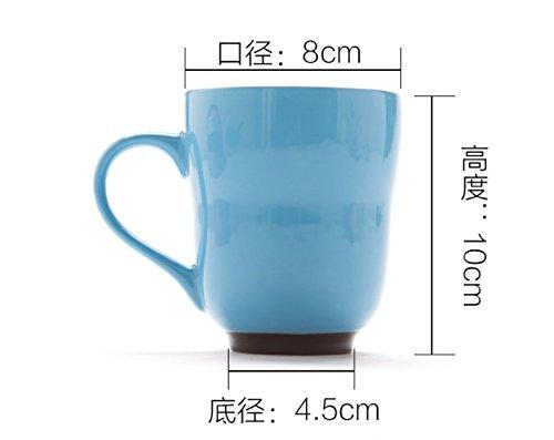 Taza de cerámica, Taza de café, Taza de Leche a Granel de Personalidad Minimalista, Taza de Cereal de Desayuno,Cinco