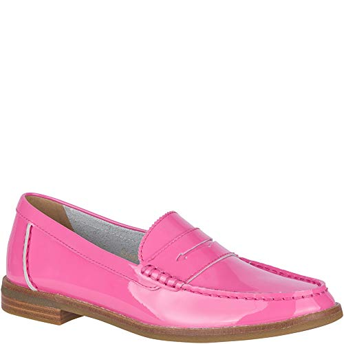 (SPERRY Women's Seaport Penny Patent Loafer, Pink, 8)