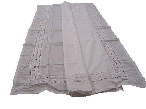 Lace Trousseau Shower Curtain White 72x72 Inch - Trousseau Lace