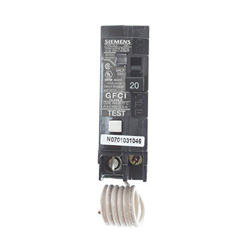 Siemens BF120 20-Amp Single Pole 120-Volt10KAIC Ground Fault Circuit interrupter by Siemens (Image #1)