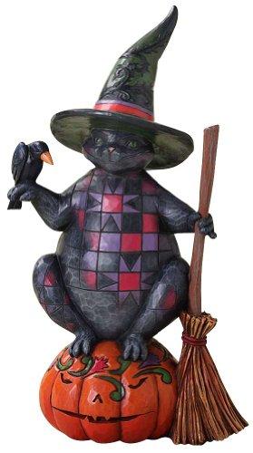 Enesco 4027794 Jim Shore Heartwood Creek Halloween Cat Figurine, -