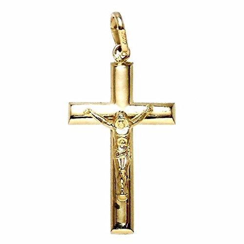 18k or crucifix ovale Christ [4895]