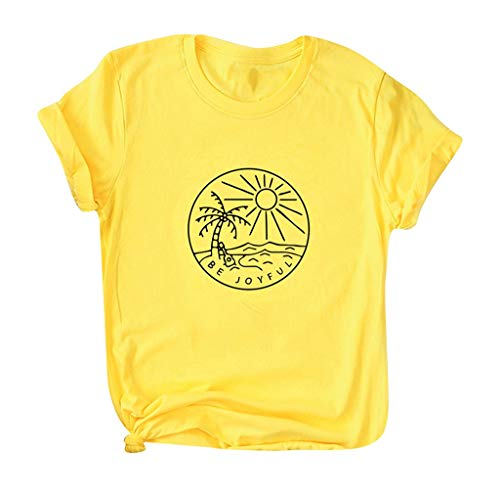 Eaktool Women Summer Shirts for Women Vneck Shirts for Women Workout Shirts for Women Orange
