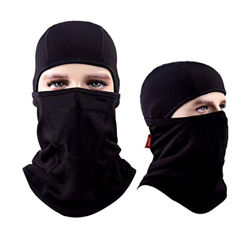 Balaclava Aegend Windproof Ski Mask Winter Motorcycle Neck Warmer Tactical Balaclava Hood Polyester Fleece Women Men Youth Snowboard Hat Outdoors Helmet Liner Mask,1 Piece