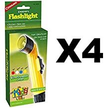 Coghlan's Explorer's Flashlight for Kids Camping Light Lamp Signal Toy (4-Pack)