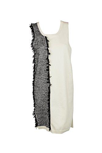 31-phillip-lim-womens-ivory-black-sleeveless-fringe-sweater-dress-m