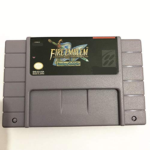 Value-Smart-Toys - Save File Fire Emblem - Genealogy of the Holy War (English patch)16 bit Big 46 pins Gray Game Card For NTSC Game Player - Pins Emblems