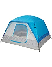 Diamond Candy 5 to 6 Person Family Dome Camping Tent with Full Standing Head Height Easy Setup and Pack