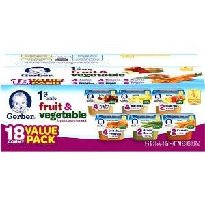 Gerber First Foods Assorted Fruits and Vegetables Variety Pack, 2.5 oz.18 Count (Gerber Baby Food Green Beans compare prices)