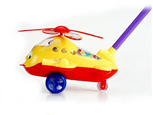 Best Alarm Clock Cartoon Plastic Aircraft Pull Along Toy for Children Early Education