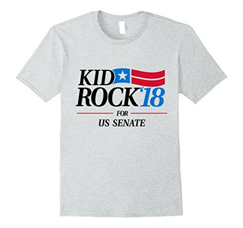 Mens Kid for US Senate 2018 Men's T-Shirt In Rock We Trust Large Heather Grey