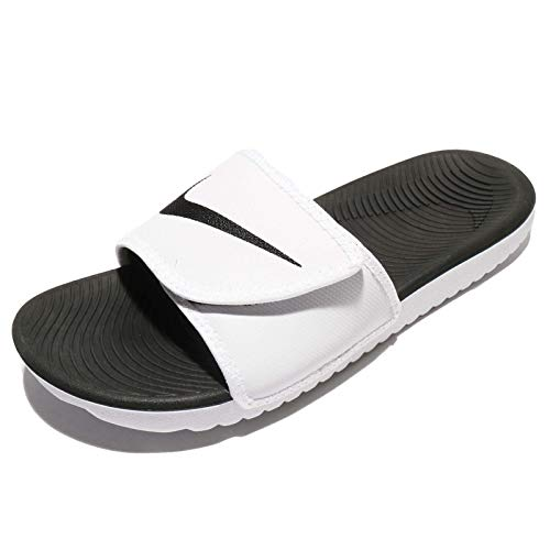 pretty nice f0d5f 4085d Nike Men s Kawa Adjustable Slide Sandals, White Black-White, ...