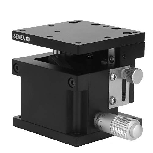 Lineartisch SEMZA-60 Z, 60 x 60 x 50 mm Z-Mikrometer Manuelle Präzisions-Lineartranslations-Tischplattform Lineartisch-Kreuzrollenführung mit Z-Achse