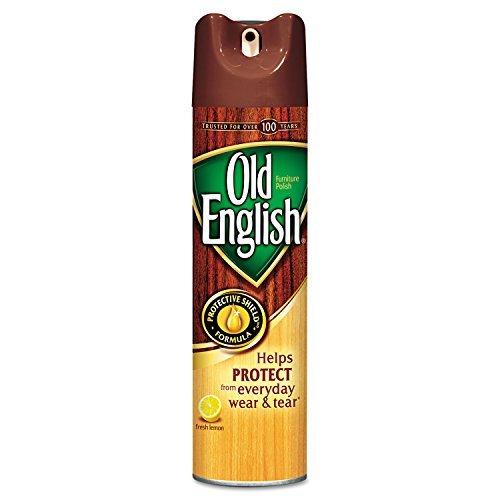 Reckitt Benckiser Old English Furniture Polish - Aerosol - 12.5 fl oz (0.4 quart) - Lemon Scent - Brown by Reckitt