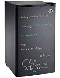 Igloo Compact Refrigerator Freezer Mini Fridge with Dry Erase Board Door and Bonus Dry Erase Marker Starter Kit, 3.0 Cu Ft, Black
