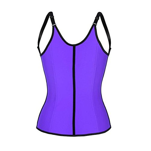 Plus Size Corsets Australia (PiterNace Sexy;cozy Womens Plus Size Underbust Waist Cincher Corset Vest XL Purple)