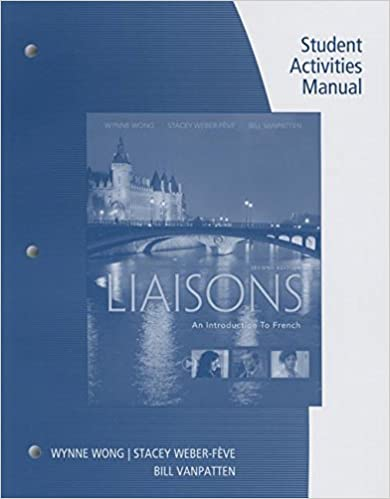 Student Activities Manual And ILrnTM Heinle Learning Center 4 Terms 24 Months Printed Access Card For Wong Weber Feve Ousselin VanPattens Liaisons An