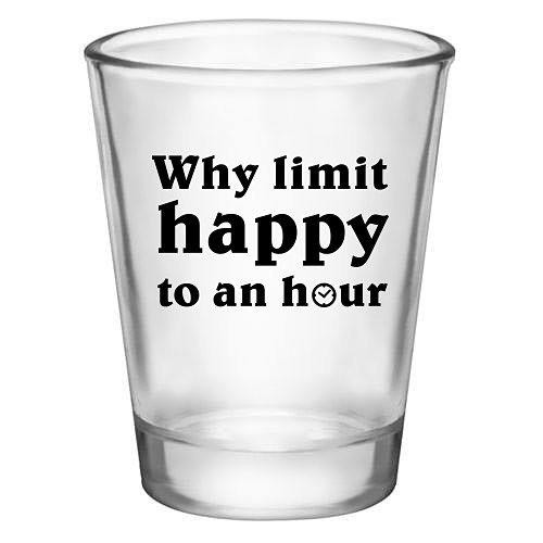 Shot Glass Gift Funny Happy Hour Novelty Shotglass