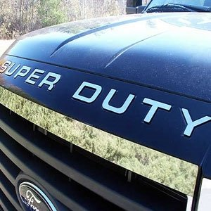 BDTrims 2008-2016 Ford Super Duty Front Grille Letters Inserts ABS Plastic (Chrome) ()