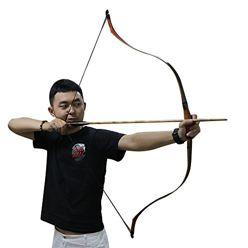 TOPARCHERY Traditional Handmade Turkey Recurve Bow Fast Speed with String  Pad Archery Hunting 30-45lbs (50)