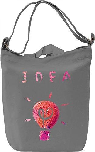 Idea Borsa Giornaliera Canvas Canvas Day Bag| 100% Premium Cotton Canvas| DTG Printing|