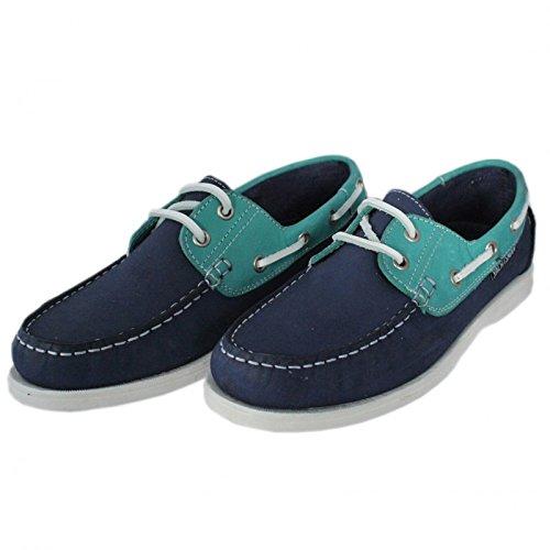 Pour Navigateur Bleu marine Deck Chaussures VERT
