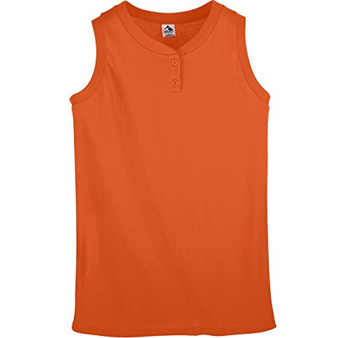 Augusta Sportswear WOMEN'S SLEEVELESS TWO-BUTTON SOFTBALL JERSEY XL ()