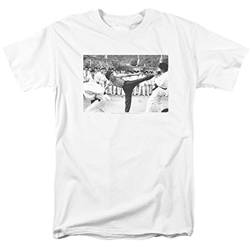 - Trevco Men's Bruce Lee Short Sleeve T-Shirt, Head White Medium