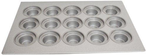Magna Industries 15344 22-Gauge Aluminized Steel Crown Top Large Muffin Pan, 4-1/8'' Diameter, 3 x 5 Cups Layout (Pack of 6) by Magna Industries (Image #1)
