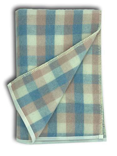 Manta para bebé, color rosa/azul/crema, con trabillas, 100 ...