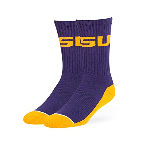 - OTS NCAA Lsu Tigers Anthem Sport Socks, Large, Purple