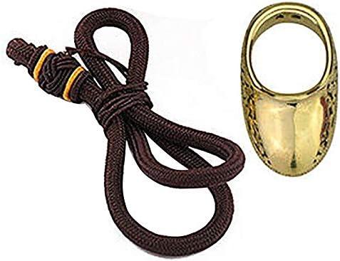 Monland 18-19Mm Handmade Traditional Archery Brass Thumb Ring Finger Protector 18