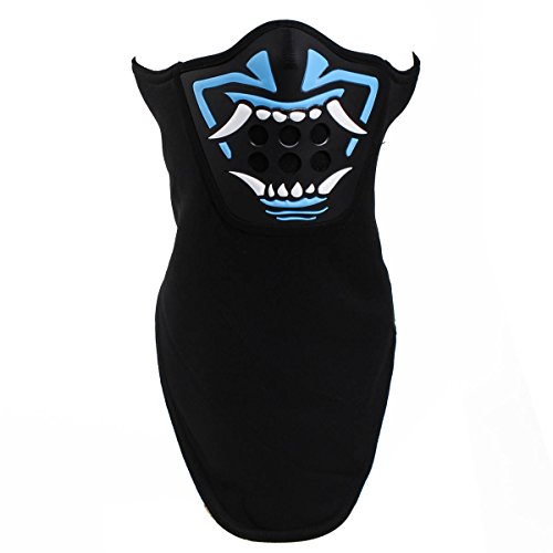 Cool 3D Fright Halloween Costume Party Mask Breathable Silicone Windproof Neck Warmer Skiing Snowboarding Face Guard (Blue)