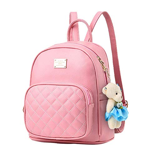 Redlicchi Women Blue Leather Backpack Purse Satchel School Bags Casual Travel Daypacks for Girls