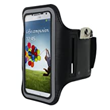 Cbus Wireless Running Jogging Sports GYM Armband Cover Case Holder for Samsung Galaxy S5 / S4 / S3 - Black