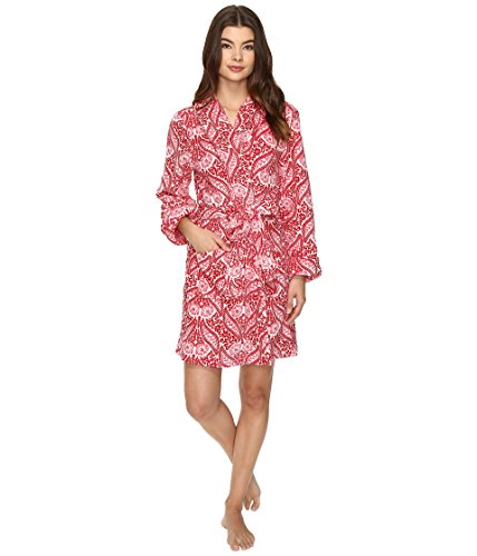 Lucky Brand Women's Wrap Me up Plush Robe, Wallpaper Floral, Medium